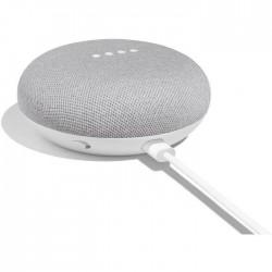 DOMOTIQUE HAUT PARLEURS GOOGLE HOME MINI BLANC sans fil Wi-Fi et Bluetooth à commande vocale avec Assistant Google