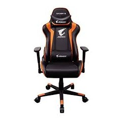 FAUTEUIL GAMER GIGABYTE AORUS GC300 WITH HEADREST AND LUMBAR CUSHION BLACK/ORANGE