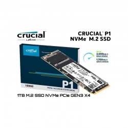 DISQUE DUR CRUCIAL CT1000P1SSD8 SSD P1 M.2 PCIE NVME 1 TO