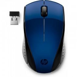 SOURIS Optique HP 220 USB 3 Boutons Bleue Sans fil 2,40 GHz 1300 dpi 7KX11AA