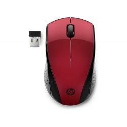 SOURIS Optique HP 220 USB 3 Boutons Rouge Sans fil 2,40 GHz 1300 dpi 7KX10AA