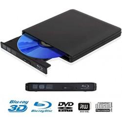 GRAVEUR DVD/BLURAY EXTERNE DDQ USB 3.0 SLIMLINE PORTABLE COMBO LECTEUR BLURAY NOIR
