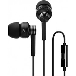 ECOUTEUR  Edifier P270 Metallic Earbud Headphones with Mic and Remote Control - Black 001659