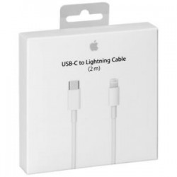 CABLE Apple - Lightning/USB-C - pour iPhone, iPod, Tablette, iPad - 2 m - 1 x Lightning Mâle Connecteur propriétaire - 1 x ...