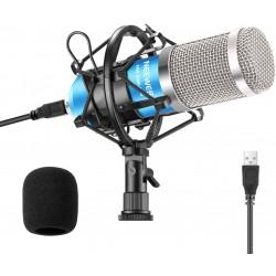 MICROPHONE NEEWER USB 192KHZ/24Bits pour Ordinateur Plug & Play Microphone à Condensateur Cardioïde avec Puce de Son Profes...
