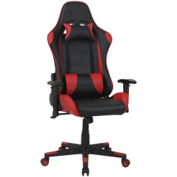 FAUTEUIL TYPHOON GAMING HIGH BLACK/RED