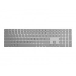 Clavier Microsoft Surface - Sans fil - Français - Gris - Bluetooth - iOS, Mac OS, Android, Windows