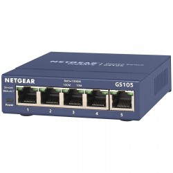 SWITCH Ethernet Netgear ProSafe GS105GE 5 Ports
