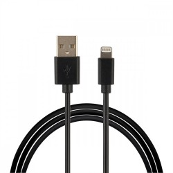 CABLE ASTROTEK USB LIGHTNING 1M DATA SYNC BLACK POUR IPHONE