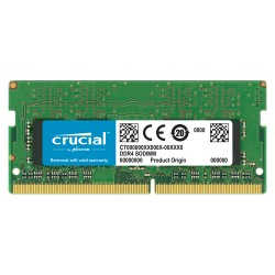 MEMOIRE CRUCIAL DDR4 8GB SODIMM 2666 MHZ  PC4-21300 CL19 SR X8
