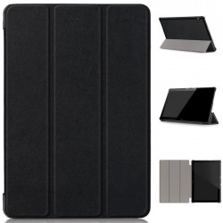 ETUI TABLETTE BLACK LEATHER BOOK CASE POUR HUAWEI MEDIAPAD T5 10'1