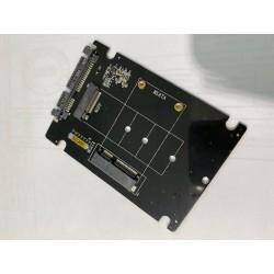 ADAPTATEUR MSATA SATA - 2 in 1 mSATA to SATA NGFF M.2 to SATA3 Converter PCB Adapter Card SSD Disk Drive