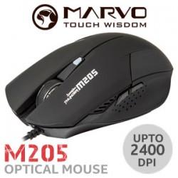 SOURIS MARVO M205 BLACK GAMING MOUSE 2400dpi