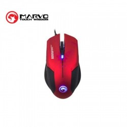 SOURIS MARVO M205 RED GAMING MOUSE 2400dpi
