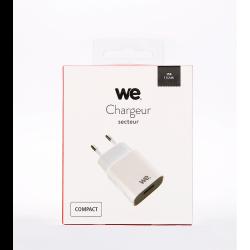 Chargeur secteur WE 1 USB 2.4A blanc