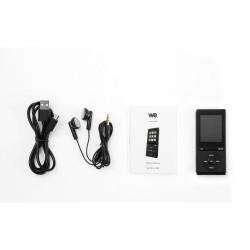 Lecteur MP4 WE 8Go lecture audio et video, Radio FM, Bluetooth V4,0, Podomètre noir