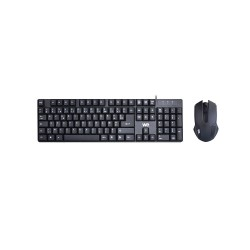 Clavier + Souris Filaire WE Plug & Play / Compact / 1000 DPI Touches silencieuses