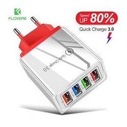 Adaptateur secteur 4 USB européen prise ue FLOVEME chargeur rapide MURAL