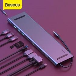 STATION D'ACCEUIL BASEUS TYPE C USB 3.0 HDMI RJ45 11 PORTS