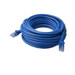 CALBE 8WARE RJ45 CAT6a UTB ETHERNET CABLE 10M BLUE