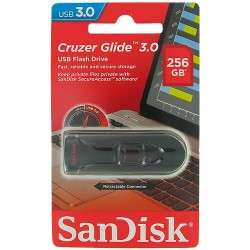 CLE USB SanDisk 256GB Cruzer Glide USB3.0 Flash Drive