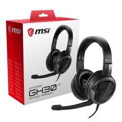 CASQUE GAMER MSI Immerse GH30 v2 Circum-aural fermé - microphone détachable - jack 3.5 mm - pliable