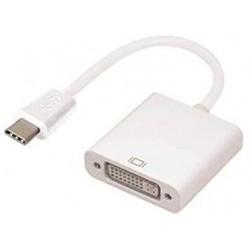 ADAPTATEUR USB-C TO DVI - USB 3.1 TYPE C MALE VERS DVI FEMELLE