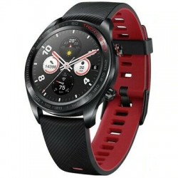 MONTRE CONNECTEE HUAWEI HONOR WATCH MAGIC LAVA BLACK RED SILICONE STRAP