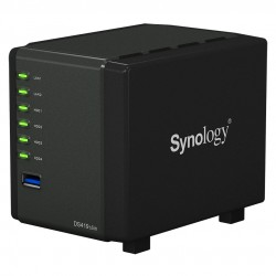 SERVEUR NAS Synology DiskStation DS419slim 4 baies compact pour HDD/SSD 2.5""