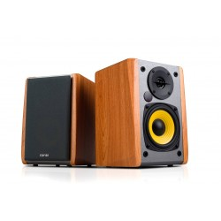ENCEINTES Edifier R1010BT Brown 2.0 Lifestyle Bookshelf BT Studio Speakers BROWN