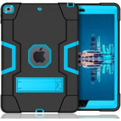 COQUE IPAD 7EME GEN. HEAVY DUTY BLACK/BLUE