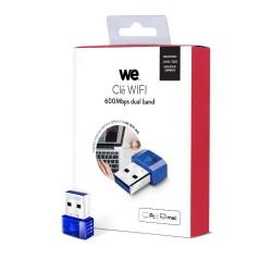 CLE WIFI WE AC600 DUAL BAND NANO USB 2.0 150Mb/s en 2.4G, 433Mb/s en 5G