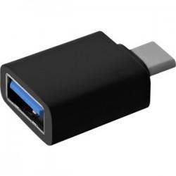 Adaptateur pour transfert de données V7 Type C Mâle USB vers Type A Femelle USB - Noir