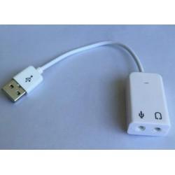 ADAPTATEUR AUDIO 7.1 USB VERS MICRO ET CASQUE
