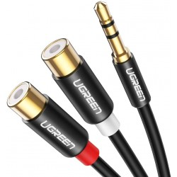ADAPTATEUR UGREEN JACK 3.5MM (M) TO 2 RCA (F) STEREO AUDIO