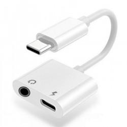 ADAPTATEUR TERSELY AUDIO JACK 3.5MM (F) ET CHARGEUR USB-C (F)
