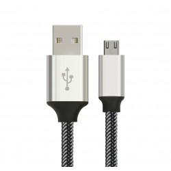 CABLE Astrotek 1m Micro USB Data Sync Charger Cable Cord Silver