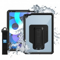 COQUE IPAD AIR 4 2020 IP68 WATERPROOF CASE WITH HAND STRAP & KICKSTAND