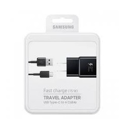 ADAPTATEUR SECTEUR SAMSUNG  5V 2A NOIR + CABLE USB TYPE-C 1.2M