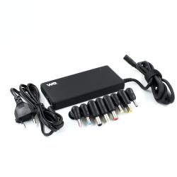 Chargeur WE universel pour PC portable 90W format SLIM avec 8 fiches noir