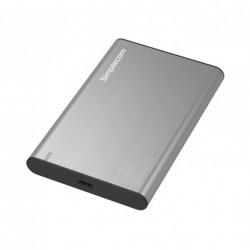 """DISQUE DUR SIMPLECOM 2.5"""" SATA HDD/SSD TO USB 3.1 ALUMINIUM SILVER"""