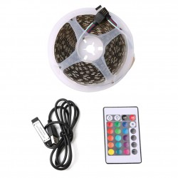 BANDE LED AUVEACH 5M 5V 5050 60SMD/M RGB LED USB TELECOMMANDE