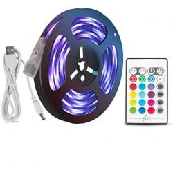 BANDE LED LIGHTSTRIP LED Strip Lights 5M Music Sync RGB 5050 Waterproof USB DC5V