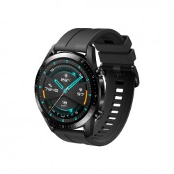 MONTRE CONNECTEE HUAWEI WATCH GT 2 SPORT 46MM BLACK MATTE - BLACK FLUOROELASTOMER STRAP
