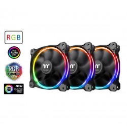 VENTILATEUR Thermaltake Riing 12 LED RGB 120mm Radiator Fan Sync Edition - 3 Fan Pack
