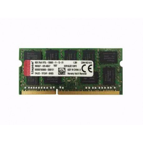 MEMOIRE SERVEUR Kingston 8GB DDR3L 1600MHz ECC CL11 SoDimm 1.35V