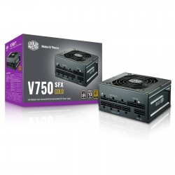 ALIMENTATION PC COOLER MASTER V SFX 750W GOLD, FULLY MODULAR CABLE DESIGN, BLACK FLAT CABLE,