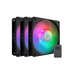VENTILATEUR COOLERMASTER SICKLEFLOW 120 ADDRESSABLE RGB LED FAN 2000 RPM 3 IN 1 KIT + 1X CONTROLLER