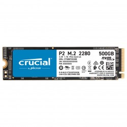DISQUE DUR SSD Crucial P2 M.2 PCIe NVMe 500 Go 3D NAND M.2 2280 NVMe - PCIe 3.0 x4