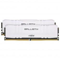 MEMOIRE PC Ballistix White 16 Go (2 x 8 Go) DDR4 3600 MHz CL16 Kit Dual Channel PC4-28800
